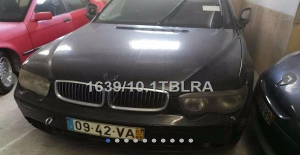 BMW 745 4398cc ano 2003 Licitação 750 euros 1