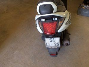 SYM 125cc ano de 2009 licitação 392 euros 3