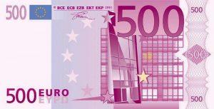 Notas de 500 euros começam a sair de circulação este mês de Janeiro 2